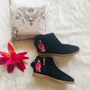 kate spade Bellville embroidered suede bootie Sz 6